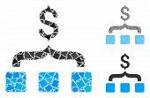 Collect Money Composition Of Humpy Pieces In Different Sizes And Shades, Based On Collect Money Icon poster