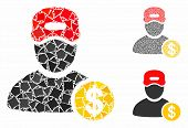 Guy Salary Mosaic Of Trembly Elements In Variable Sizes And Color Hues, Based On Guy Salary Icon. Ve poster