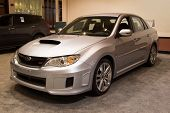 JACKSONVILLE, FLORIDA-FEBRUARY 18: A 2012 Subaru Impreza WRX at the Jacksonville Car Show on Februar