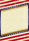 USA Frame. american grunge background of a poster.