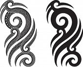 picture of maori  - Maori styled tattoo pattern fits for a shoulder or an ankle - JPG