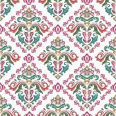Classic Seamless Pattern. Damask Orient Ornament. Classic Vintage Background. Orient Ornament For Fa poster