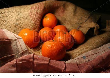 Постер, плакат: Мандарин фрукты, холст на подрамнике