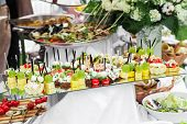 stock photo of canapes  - Lot Of Canape - JPG