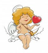 angel cupid for valentine's day vector illustration EPS10. Transparent objects and opacity masks use