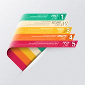 Curved stripes design template. Fully editable vector.