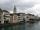 Zurich, The Financial Center Of Europe. poster