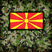 foto of ami  - Amy camouflage uniform with flag on it Macedonia - JPG