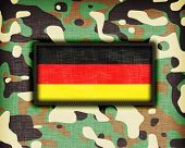 picture of ami  - Amy camouflage uniform with flag on it Germany - JPG