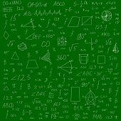 Fundo de fórmulas de escola