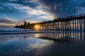 Sunset at the Oceanside Pier - Oceanside is 40 miles North of San Diego, California.