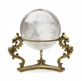 image of sorcerer  - Crystal Ball isolated on a white background with a clipping path - JPG