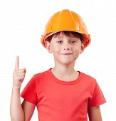 Girl In The Construction Helmet