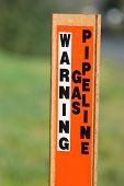 Gas Warning Caution Sign On Post