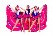 stock photo of cabaret  - cabaret dancer girls dancing - JPG