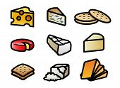 Cheese and Cracker Icons