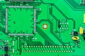 Close Up On The Old Electronic Circuit Boards Background