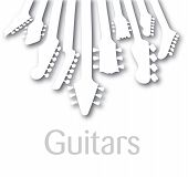 picture of g-string  - unusual and Interesting EPS vector Guitar Background - JPG