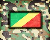 picture of ami  - Amy camouflage uniform with flag on it Congo - JPG