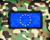 picture of ami  - Amy camouflage uniform with flag on it EU - JPG