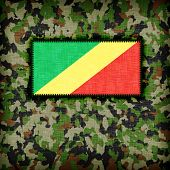 foto of ami  - Amy camouflage uniform with flag on it Congo - JPG