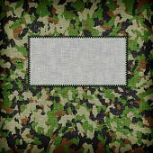 foto of ami  - Amy camouflage uniform with emty tag on it - JPG