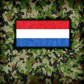 picture of ami  - Amy camouflage uniform with flag on it the Netherlands - JPG