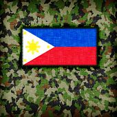 foto of ami  - Amy camouflage uniform with flag on it phillipines - JPG