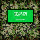 picture of ami  - Amy camouflage uniform with flag on it Saudi Arabia - JPG