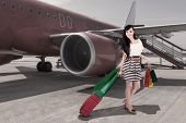 Affluent Travel - Beautiful Woman Arriving At Airport