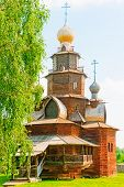 Russian wooden church in the old style, Suzdal