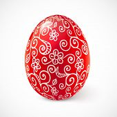 Red ornate vector traditional Easter egg