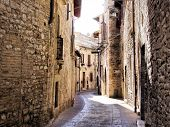foto of quaint  - Old medieval street in Assisi - JPG