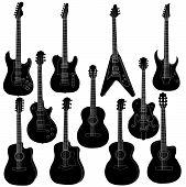 Guitar vector set