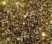 stock photo of confetti  - Gold sparkle glitter background - JPG