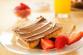 Toast With Chocolate Cream