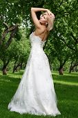 Beautiful Bride In green The Park