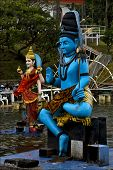 Statue Of A Hinduism  Snake   In Mauritius Africa