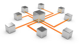 foto of intranet  - Abstract communications on a white background conception of network communication 3d - JPG
