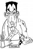 cartoon illustration of evil looking psychiatrist