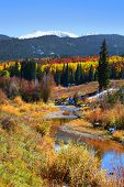 Scenic landscape in Gunnison national forest