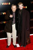 NEW YORK- OCT 29: Former talk show host Dick Cavett and wife Martha Rogers attend the premiere of 'Last Vegas' at the Ziegfeld Theatre on October 29, 2013 in New York City.