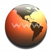WWW Graphic In Orange t-shirt