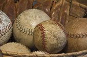 Old Baseballs and an Antique Glove