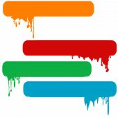 Set Of Splash Color Paint Banners