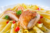 Pasta. Penne With Chicken