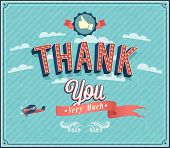 stock photo of thankful  - Thank you typographic creative design - JPG