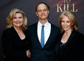 NEW YORK- OCT 20: (L-R) Actors Debra Monk, David Hyde Pierce and producer Daryl Roth attend the Broa