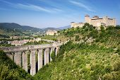 stock photo of aqueduct  - Aqueduct in Spoleto - JPG