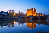 Bunratty castle at night in Co. Clare, Ireland